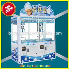 ice cream simulator toy claw game machine/ toy prize game mahcine/ toy claw crane game machine