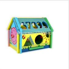 Wooden toys for children educational toys interesting hut multi-function large wisdom houses digital disassembling 1-6