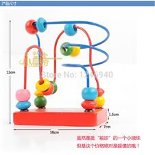 Educational wooden toys children's intelligence toys beading